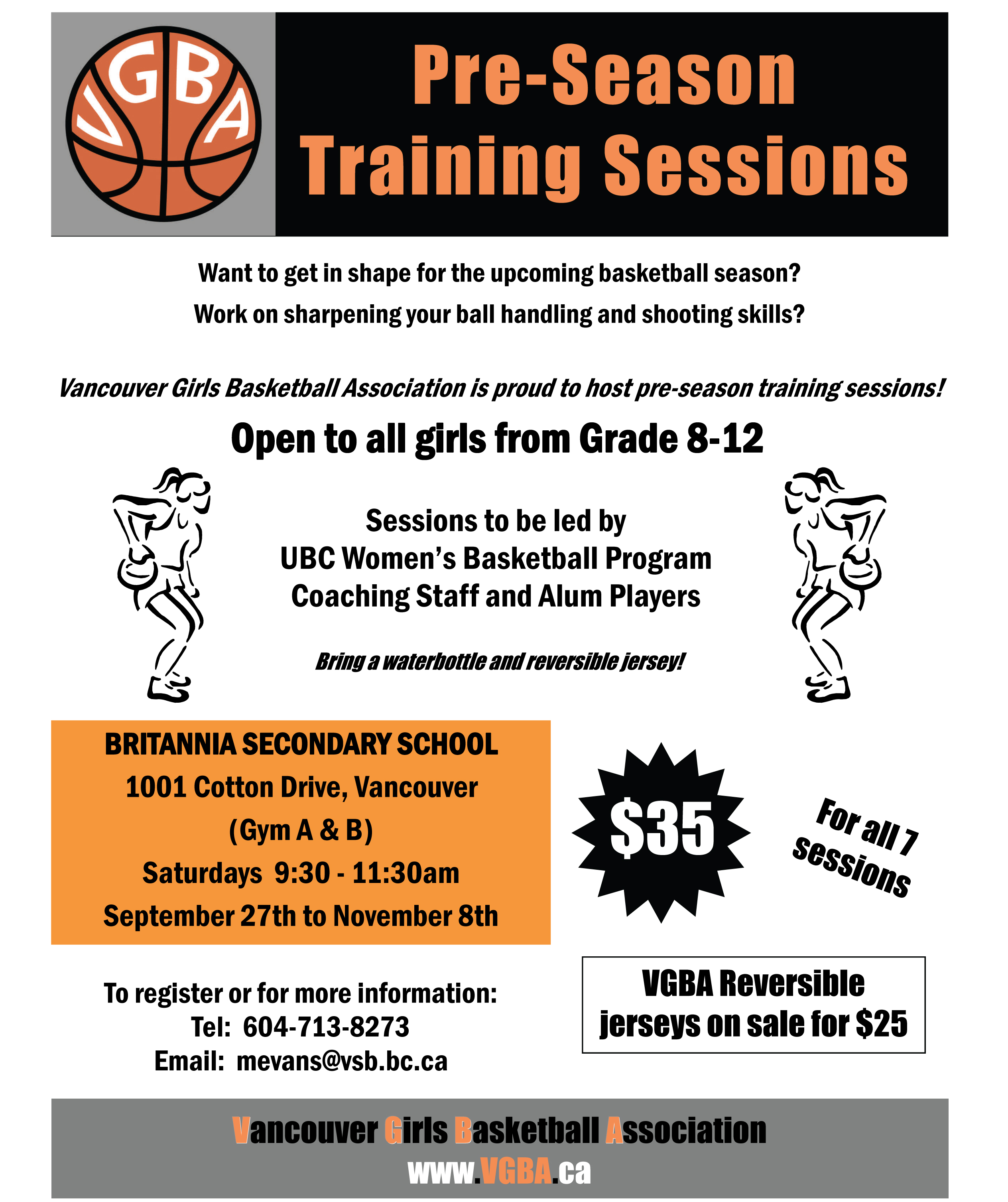 2014 VGBA Saturday Sessions Flyer