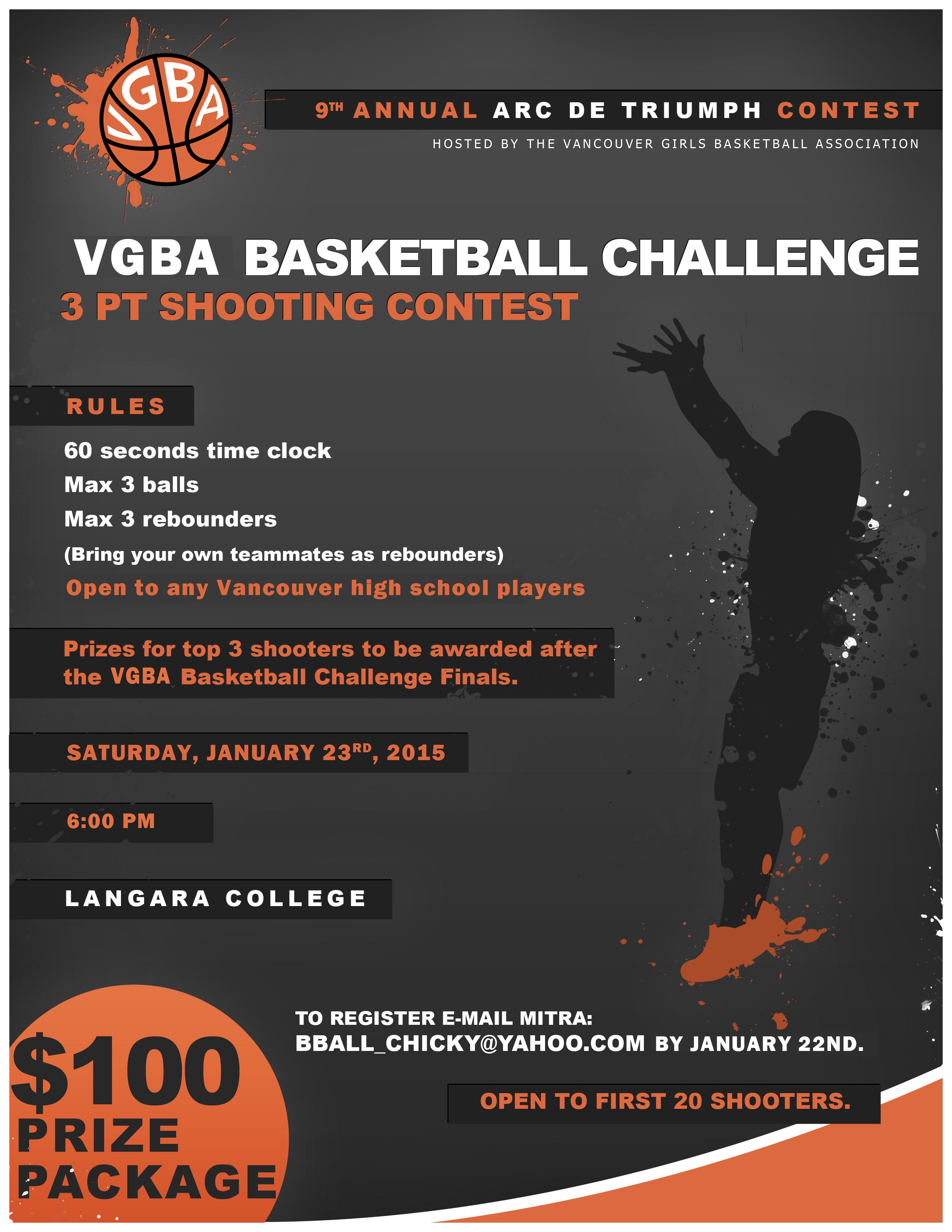 VGBA Langara Challenge 3pt Contest